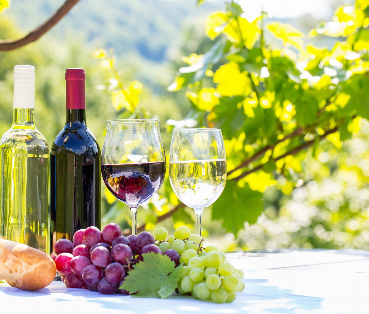 Screenshot №1 pro téma White and Red Greece Wine 1200x1024