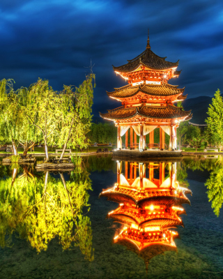 Chinese Pagoda HD Background for iPhone 6 Plus