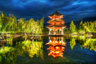 Chinese Pagoda HD Wallpaper for 1920x1080