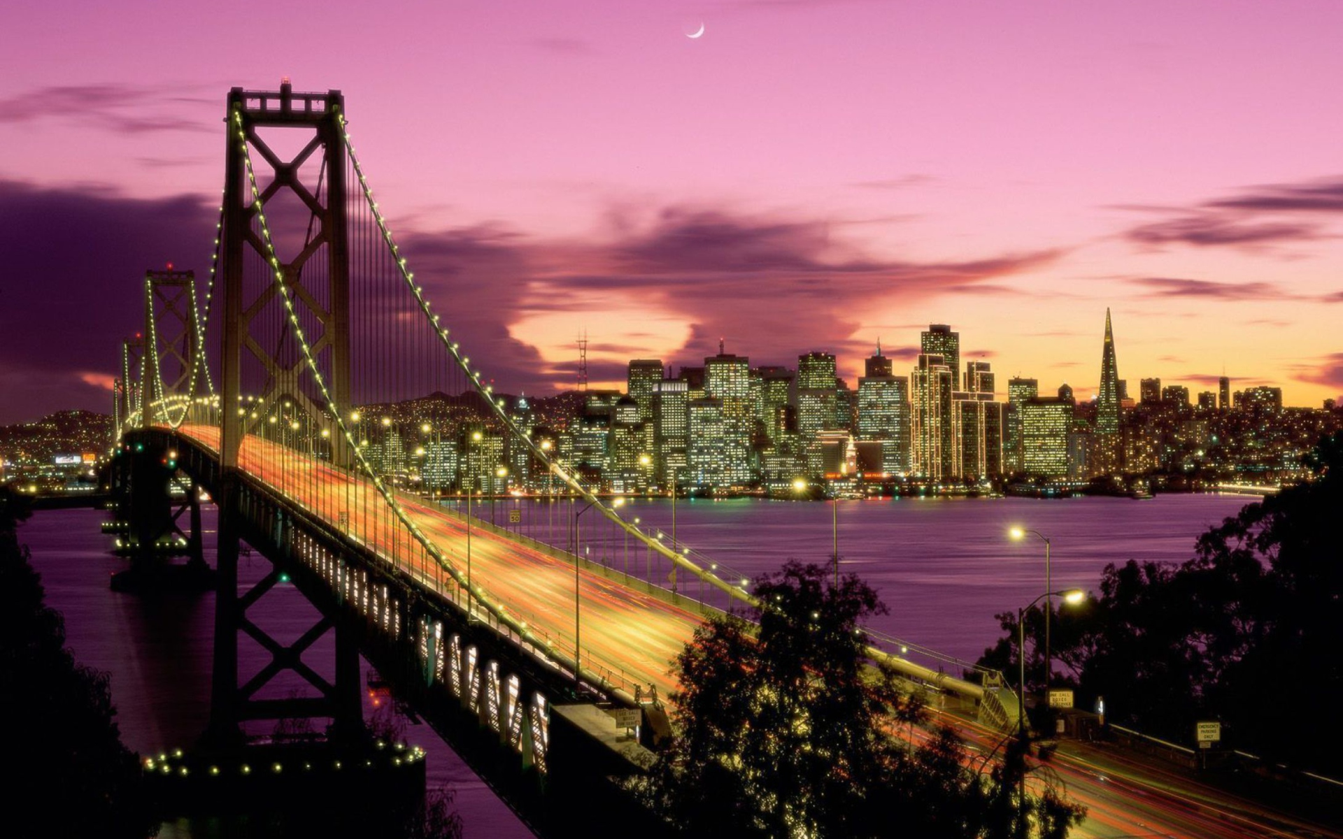 Обои калифорния, bay bridge, san francisco, california. Города foto 12