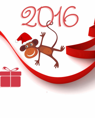 New Year 2016 of Monkey Zodiac Background for Nokia Asha 306