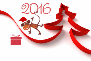 Kostenloses New Year 2016 of Monkey Zodiac Wallpaper für Android 320x480