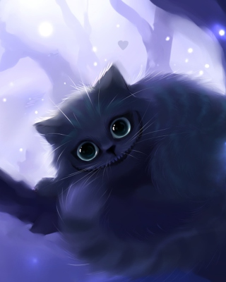 Cheshire Cat Smile Wallpaper for 240x320