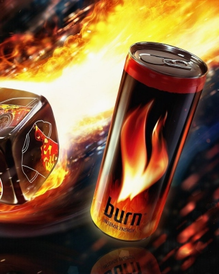 Burn energy drink Background for Nokia C5-06