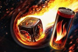 Burn energy drink Wallpaper for Android, iPhone and iPad
