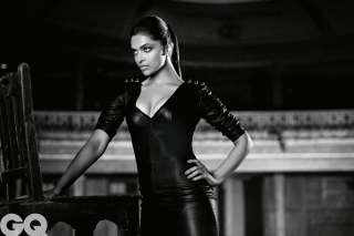 Deepika Padukone Black and White Photo - Obrázkek zdarma