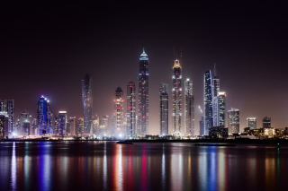 UAE Dubai Photo with Tourist Attractions Background for Android, iPhone and iPad