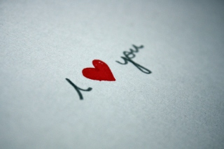 I Love You Written On Paper Picture for Android, iPhone and iPad