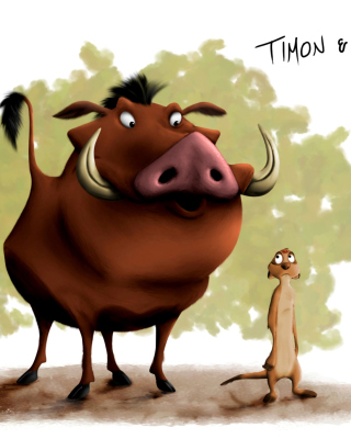 Hakuna Matata Timon and Pumba sfondi gratuiti per iPhone 4S