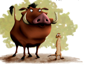 Kostenloses Hakuna Matata Timon and Pumba Wallpaper für Android 320x480