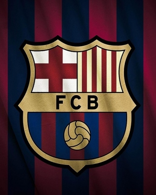 FC Barcelona Logo Background for 176x220