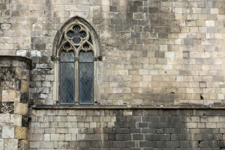 Windows and Stone Wall Picture for Android, iPhone and iPad