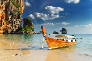 Thai Boat Background for Android, iPhone and iPad