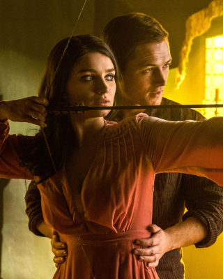 Robin Hood with Taron Egerton and Eve Hewson Background for 240x320