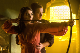 Free Robin Hood with Taron Egerton and Eve Hewson Picture for Sony Xperia Z1