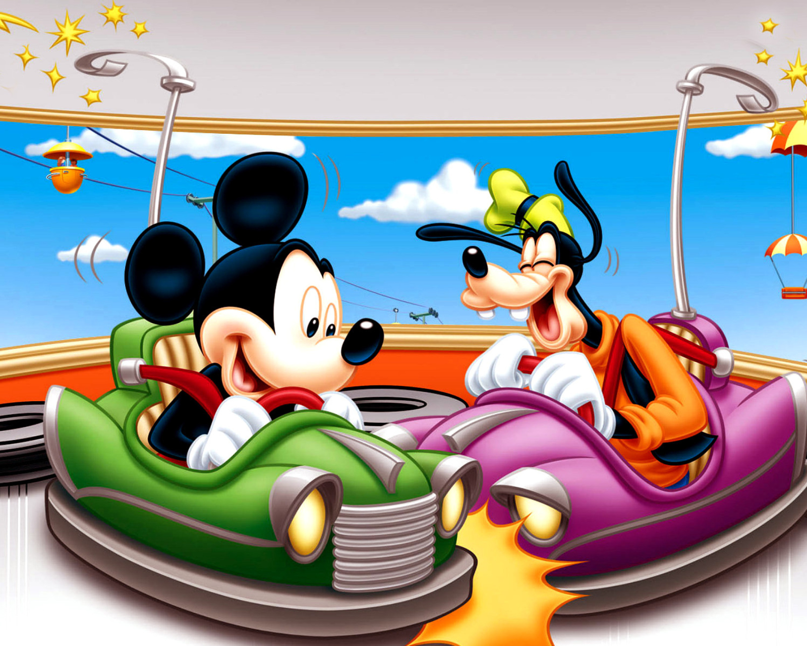 Screenshot №1 pro téma Mickey Mouse in Amusement Park 1600x1280