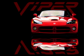 Red Dodge Viper Background for Android, iPhone and iPad
