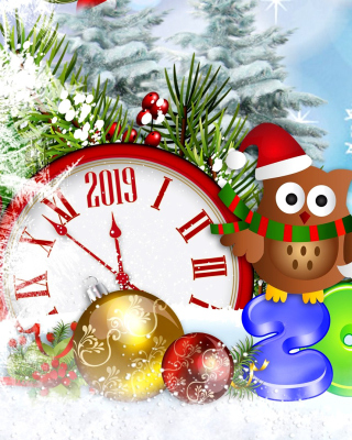 Free 2019 New Year Card Picture for Nokia Asha 306