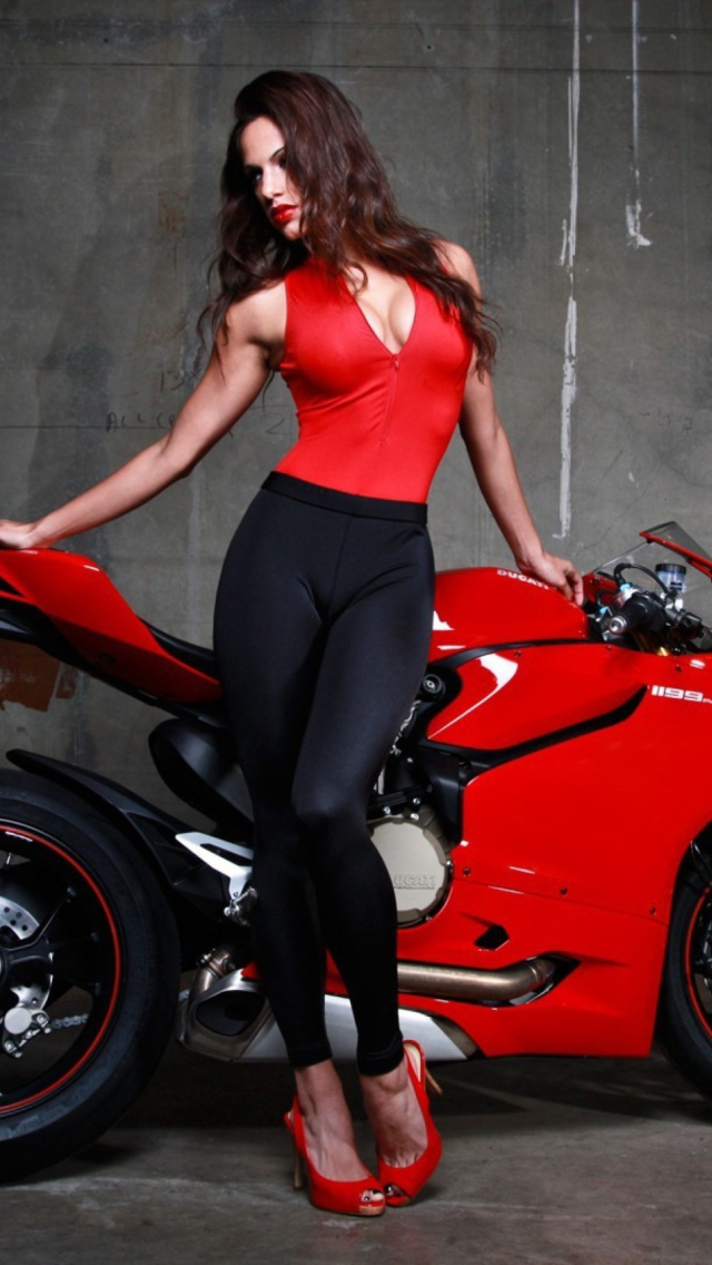 Screenshot №1 pro téma Red Ducati Superbike Model 640x1136