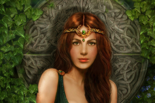 Celtic Princess Background for Android, iPhone and iPad