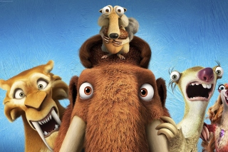 Ice Age 5 Collision Course with Diego, Manny, Scrat, Sid, Mammoths Picture for Android, iPhone and iPad