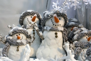 Snowmen Background for Android, iPhone and iPad