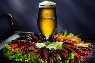 Beer and Crawfish Background for Android, iPhone and iPad