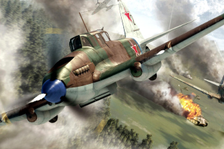 Il 2 Shturmovik Ground Attack Aircraft Background for Android, iPhone and iPad