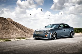 Cadillac CTS-V Test Drive Wallpaper for Android, iPhone and iPad