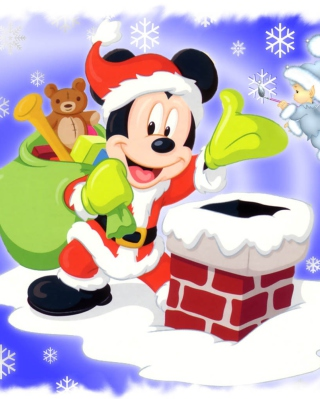 Mickey Santa Wallpaper for 176x220