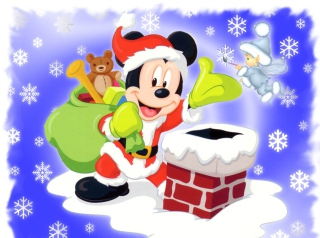Mickey Santa Wallpaper for 1280x1024
