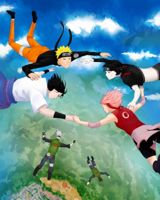 Hatake Kakashi, Sai, Uchiha Sasuke, Haruno Sakura Background for 480x640