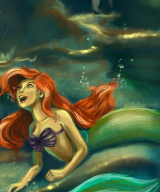 Little Mermaid Painting Background for iPhone 6 Plus