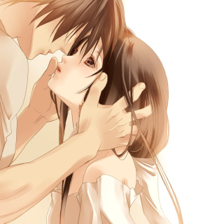 Anime Couple Background for 1024x1024