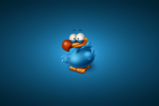Funny Blue Bird Background for Android, iPhone and iPad