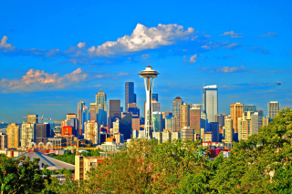 Seattle Landscape, Washington Background for Android, iPhone and iPad