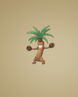 Funny Coconut Palm Tree Illustration sfondi gratuiti per Nokia C1-01