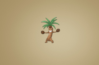 Funny Coconut Palm Tree Illustration Wallpaper for Android, iPhone and iPad