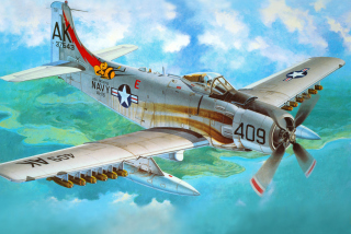 Douglas A-1 Skyraider Wallpaper for Android, iPhone and iPad