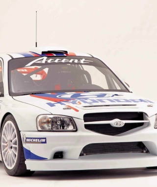 Hyundai Accent WRC Background for 768x1280