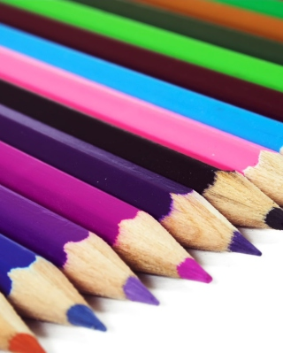 Colored Crayons Wallpaper for Nokia Asha 305
