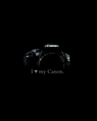 I Love My Canon sfondi gratuiti per iPhone 5C