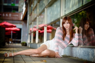 Free Chinese redhead girl Picture for Android, iPhone and iPad