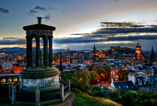 Edinburgh Lights Wallpaper for Android, iPhone and iPad