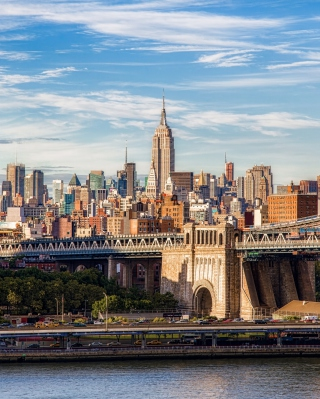 Brooklyn Bridge, Manhattan, New York City - Fondos de pantalla gratis para HTC Pure