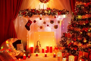 Home christmas decorations 2021 Wallpaper for Android, iPhone and iPad