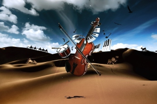 Music And Violin Wallpaper for 1920x1408