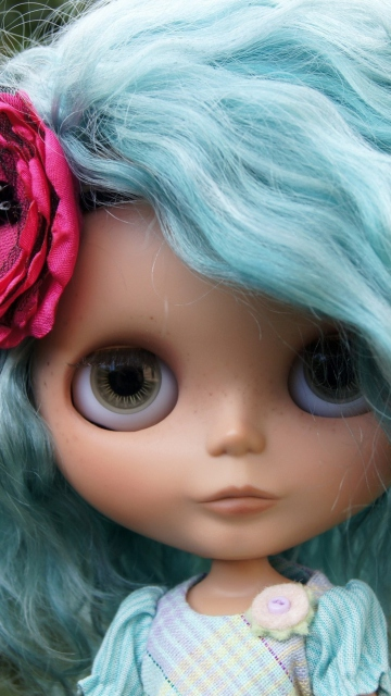 Doll With Blue Hair
