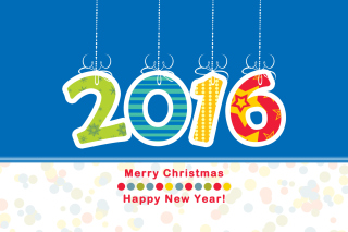 Colorful New Year 2016 Greetings Picture for Android, iPhone and iPad