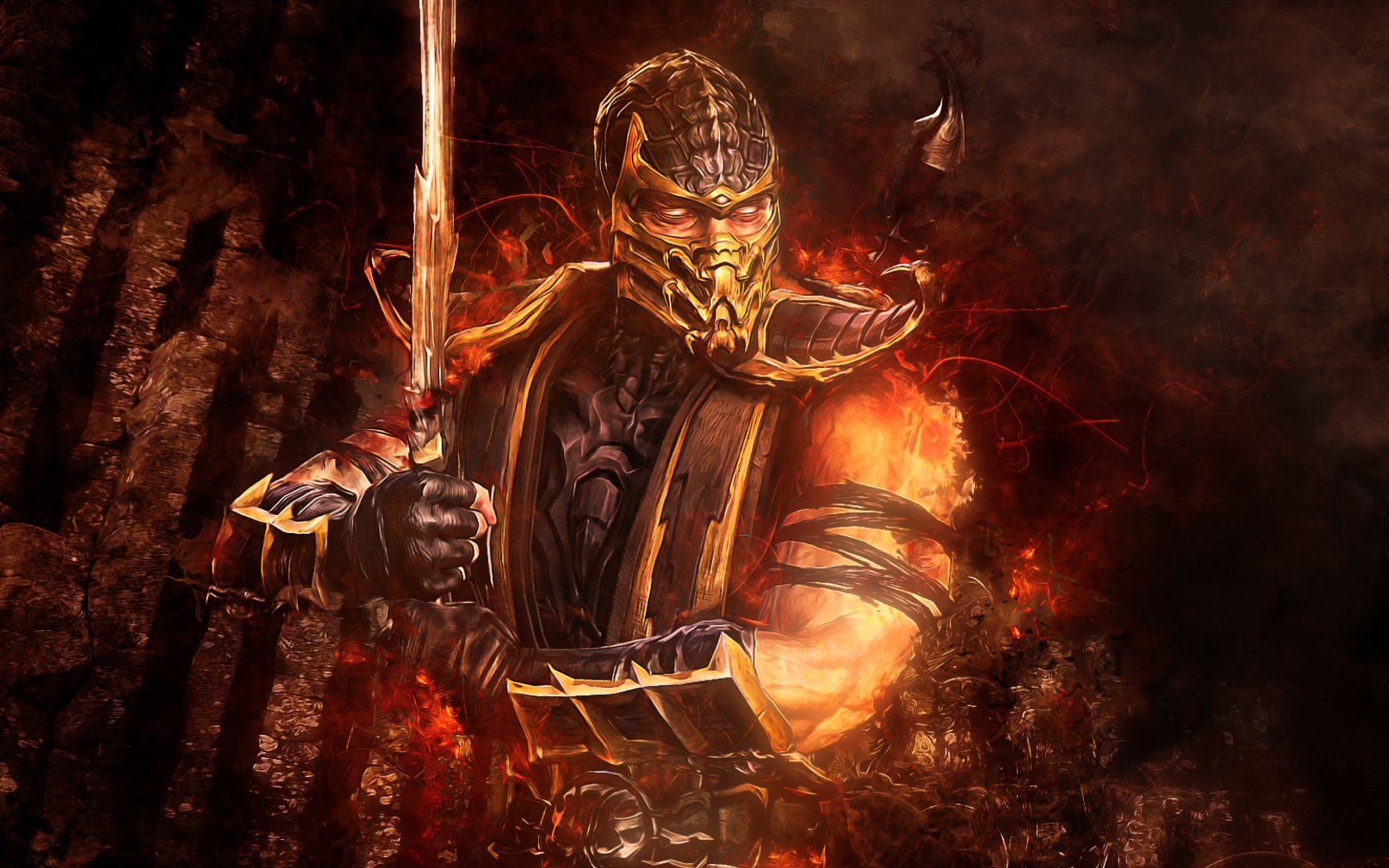 Screenshot №1 pro téma Scorpion in Mortal Kombat 1680x1050